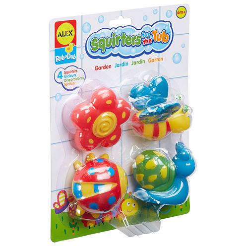 ALEX TOYS Rub A Dub Bath Squirters Garden 4-pc. Toy Playset - Unisex
