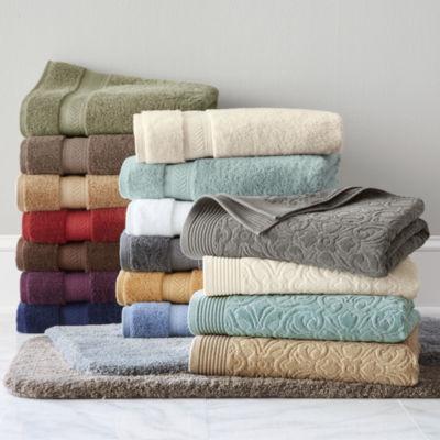 jcpenneycom royal velvet sculpted u0026 luxury egyptian cotton loops bath towel u0026 - Egyptian Cotton Towels