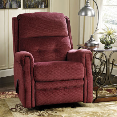 jcpenney.com | Signature Design by Ashley® Meadowbark Fabric Pad-Arm Glider Recliner