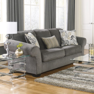 Signature Design By Ashley® Makonnen Roll Arm Upholstered Queen Sleeper Sofa
