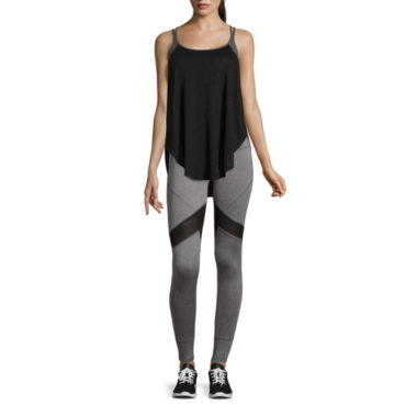 jcpenney.com | Xersion™ Cage Back 2fer Bra Tank Top or Colorblock Leggings