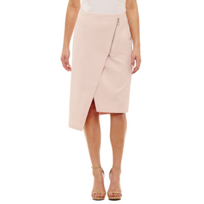 Bold Elements Sexy Stretch Asymmetrical Pencil Skirt by Bold Elements