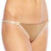Flirtitude® Spring Microfiber Lace Trim Bikini Panties