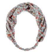 Carole Love Knot Flower Print Head Wrap