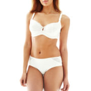 Ambrielle® Unlined Balconette Full-Figure Bra or Tummy-Control Hipster Panties