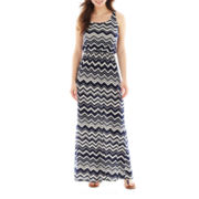 Trixxi® Chevron Print Racerback Maxi Dress