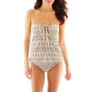 Bisou Bisou® Crochet Halterkini Swim Top or Hipster Bottoms