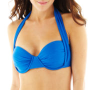 Bisou Bisou® Textured Convertible Pushup Bandeau Swim Top