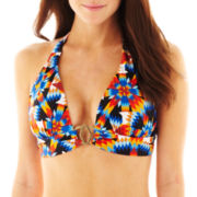 Bisou Bisou® Pushup Banded Halter Swim Top