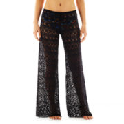 Bisou Bisou® Crochet Knit Cover-Up Pants