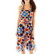Bisou Bisou® Print Mesh Convertible Cover-Up Dress