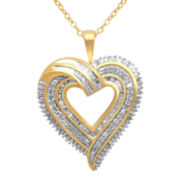¾ CT. T.W. Diamond Heart Pendant Necklace