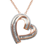 ⅜ CT. T.W. Diamond Heart Pendant Necklace