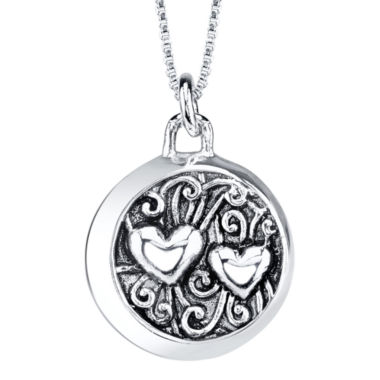 "jcpenney.com | Sterling Silver ""Mom I Love You to the Moon and Back"" Pendant Necklace"