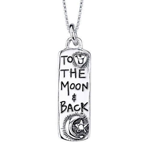 """Sterling Silver """"To the Moon & Back"""" Pendant"""