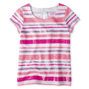 Joe Fresh™ Sequins and Stripes Tee - Girls 4-14