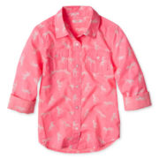 Joe Fresh™ Print Shirt - Girls 4-14