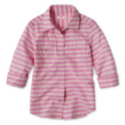 Joe Fresh™ Striped Shirt - Girls 4-14