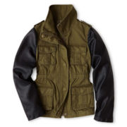Joe Fresh™ Twill Military Jacket - Girls 4-14