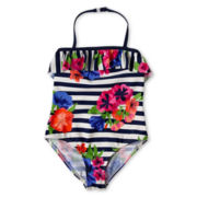 Joe Fresh™ Floral One-Piece Swimsuit - Girls 4-14