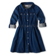 Joe Fresh™ Denim Dress - Girls 1t-5t