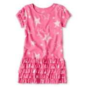 Joe Fresh™ Star Print Dress - Girls 1t-5t