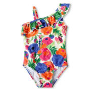 Joe Fresh™ Floral One-Piece Swimsuit - Girls 1t-5t