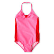 Joe Fresh™ Colorblocked One-Piece Swimsuit - Girls 1t-5t
