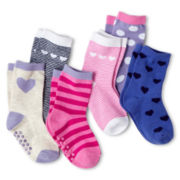 Joe Fresh™ 6-pk. Crew Socks - Girls