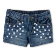 Arizona Daisy Embroidered Shorts – Girls 12m-6y