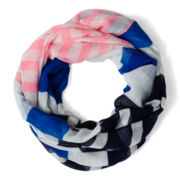 Arizona Prince Blue Striped Infinity Scarf - Girls