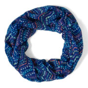 Arizona Barcelona Blue Dot Infinity Scarf - Girls
