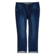 Arizona Knit Denim Capris - Girls 6-16, Slim & Plus