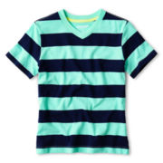 Arizona Striped Slub V-Neck Tee - Boys 6-18