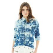 Joe Fresh™ Tie-Dyed Denim Shirt