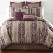 Home Expressions™ Toulouse 7-pc. Jacquard Comforter Set & Accessories
