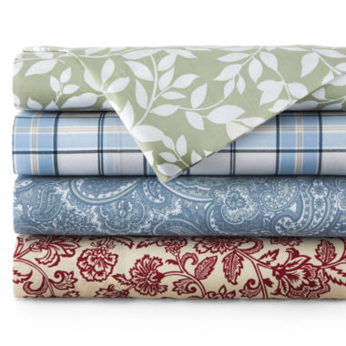 jcpenney.com | JCPenney Home™ 300tc Easy Care Print Sheet Set