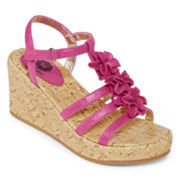Total Girl® Petra Wedge Sandals - Little Kids/Big Kids