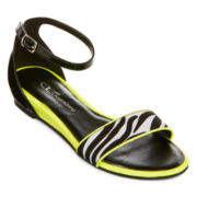 CL By Laundry Serafina Ankle-Strap Flat Sandals