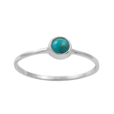 jcpenney.com | itsy bitsy™ Sterling Silver Simulated Turquoise Ring