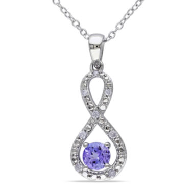 jcpenney.com | Genuine Tanzanite and Diamond Infinity Pendant Necklace