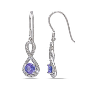 jcpenney.com | Genuine Tanzanite & Diamond Infinity Earrings