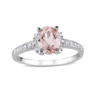 jcpenney.com | Genuine Morganite and Diamond-Accent Sterling Silver Ring