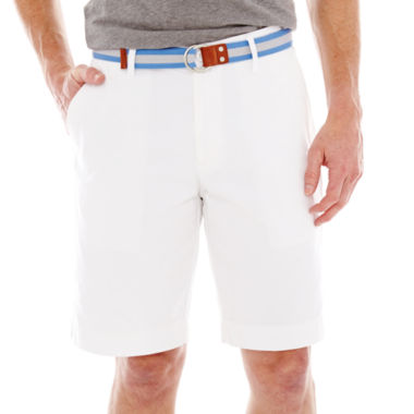 jcpenney.com | U.S. Polo Assn.® Belted Twill Flat-Front Shorts