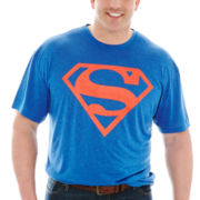 Superman™ Logo Poly Graphic Tee–Big & Tall