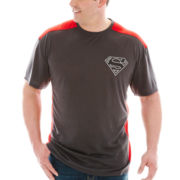 Superman™ Colorblock Poly Graphic Tee–Big & Tall