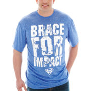 Brace for Impact Superman™ Poly Graphic Tee–Big & Tall