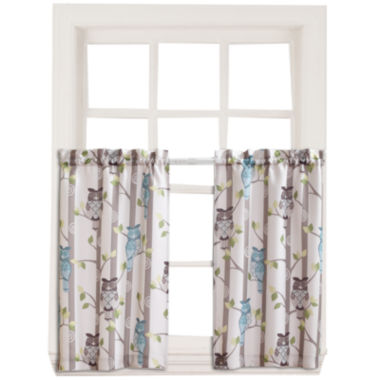 jcpenney.com | Hoot 2-Pack Rod-Pocket Window Tiers