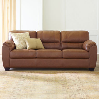 jcpenney.com | Leather Possibilities Pad-Arm Sofa