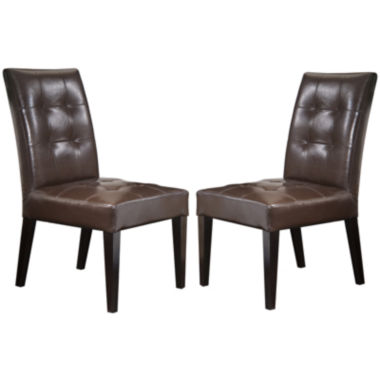 jcpenney.com | Delaney Set of 2 Bonded Leather Dining Chairs